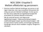 nou 2004 6 kapittel 5 mellom effektivitet og personvern