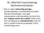 rt 1995 1427 naturfredning f rstvoterende backer