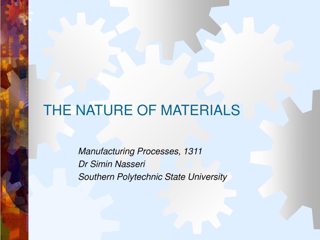 the nature of materials l.