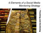 6 elements of a social media monitoring strategy8