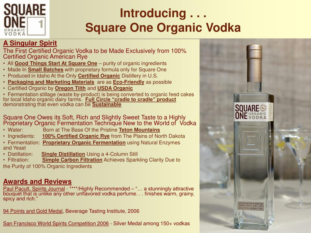 introducing square one organic vodka l.