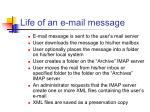 life of an e mail message
