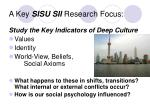 a key sisu sii research focus
