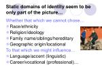 static domains of identity seem to be only part of the picture
