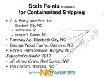 scale points exporters for containerized shipping