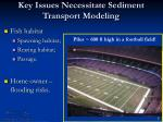 key issues necessitate sediment transport modeling