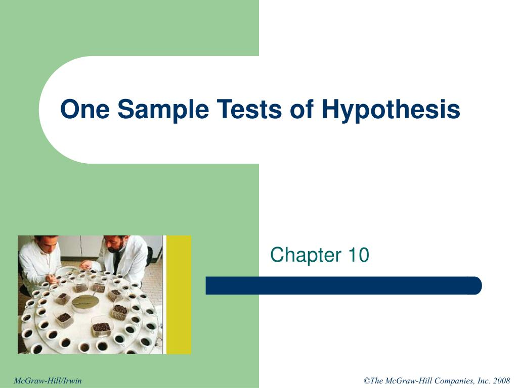 one sample tests of hypothesis l.