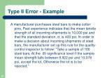 type ii error example