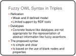 fuzzy owl syntax in triples