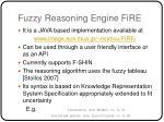 fuzzy reasoning engine fire