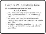 fuzzy shin knowledge base