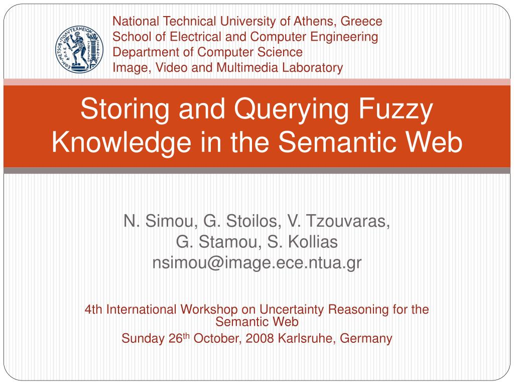 storing and querying fuzzy knowledge in the semantic web l.