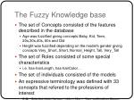 the fuzzy knowledge base