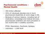 psychosocial conditions mental health