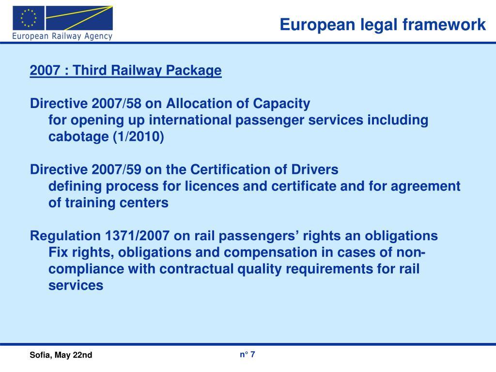 European legal framework