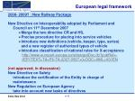 european legal framework8