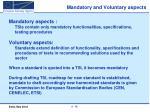 mandatory and voluntary aspects