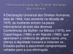 internacionaliza o dos direitos humanos das mulheres