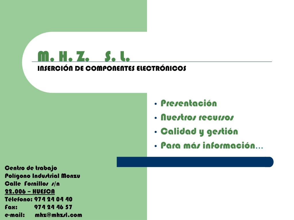 m h z s l inserci n de componentes electr nicos l.