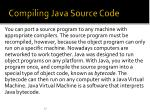 compiling java source code