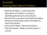 example solving math word problem