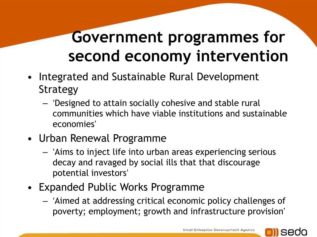 economic intervention goverment