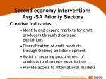 second economy interventions asgi sa priority sectors28