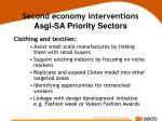 second economy interventions asgi sa priority sectors29