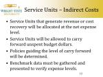 service units indirect costs12