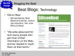 beat blogs technology