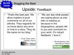 upside feedback