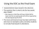 using the eoc as the final exam