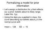 formalizing a model for prior information
