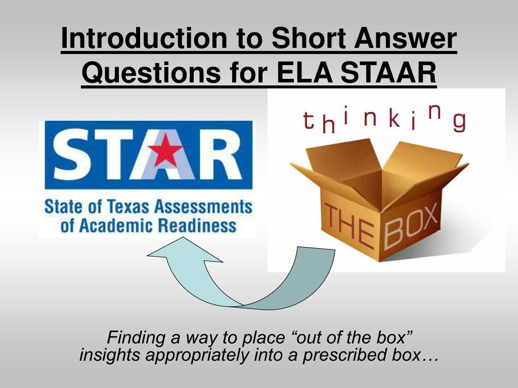 introduction to short answer questions for ela staar l.