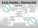 s a q practice planning grid