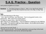 s a q practice question