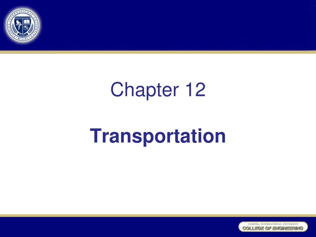 chapter 12 transportation l.