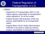 federal regulation of transportation in u s38