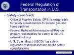 federal regulation of transportation in u s39