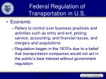 federal regulation of transportation in u s40