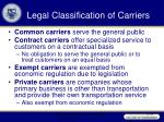 legal classification of carriers44