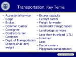 transportation key terms