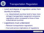 transportation regulation36