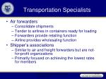 transportation specialists32