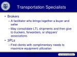 transportation specialists33