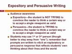 expository and persuasive writing11