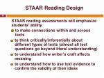 staar reading design