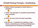 staar writing prompts scaffolding