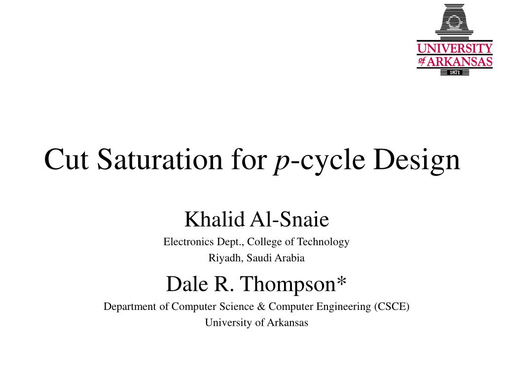 cut saturation for p cycle design l.