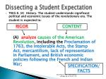 dissecting a student expectation